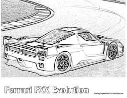 Small Picture Ferrari Coloring Pages Enzo Printable With Ferrari Coloring Pages
