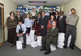 the office photos. the office cast in third season from left to right saleswoman phyllis lapin smith human resources toby flenderson paul lieberstein photos b