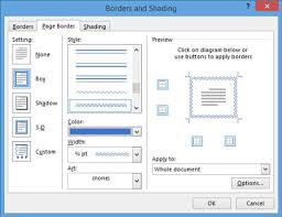 How To Add A Page Border In Word 2013 Dummies