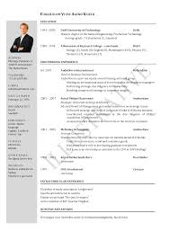 Investment Banking Resume Template University Student Pics