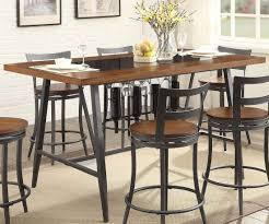 homelegance selbyville counter height table with glass inserts in brown
