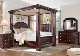 Dumont 8 Pc King Canopy Bedroom - King Bedroom Sets Dark Wood