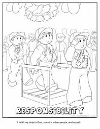 Responsibility Coloring Page October