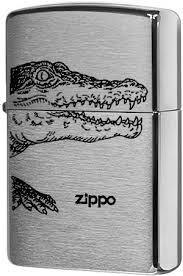 <b>200</b> Alligator <b>Зажигалка Zippo</b>, Brushed Chrome