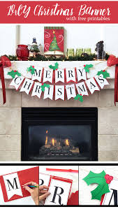 Diy Christmas Banner With Free Printable The Country Chic