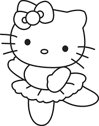 Hello Kitty Ballerina Coloring Pages Coloringstar