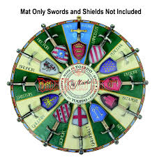 knights of the round table display mat
