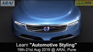 Car Design Courses In Pune Automotive Styling Course 03 Days Program Arai Pune 19th 21st Aug