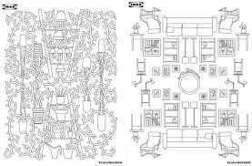 Download Ikea S Adult Coloring Book For Free 6sqft