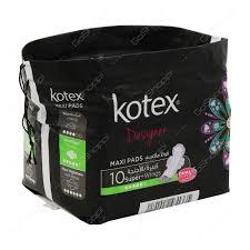 Kotex Designer Pads Kotex Designer Maxi Pads Super Wings 10 Pads Buy Online