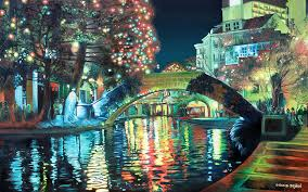 texas landscape paintings riverwalk by baron dixon san antonio