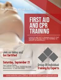 Training Flyer Templates Free 60 Cpr Customizable Design Templates Postermywall