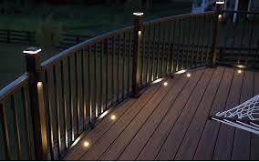 deck lighting. Trex Recessed Deck Lighting Signatureâ\u201e¢ Railing Great For Outdoor  \u0026amp; Hand Deck Lighting