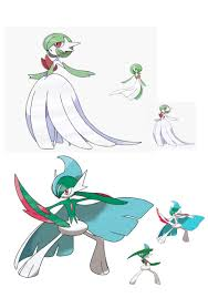 I changed the colourations of mega gardevoir and mega gallade to something  more akin to their regular forms : pokemon