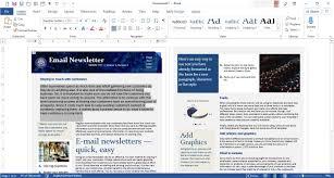 022 Microsoft Word Newsletter Template Breathtaking Ideas