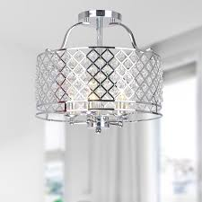 crystal flush mount chandelier. Evelyn Chrome And Crystal Flush-mount Ceiling Chandelier - Free Shipping Today Overstock 16613863 Flush Mount L