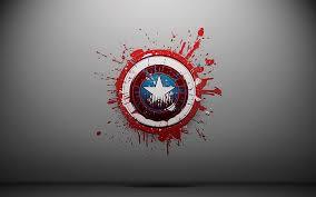 captain america shield paint splatter