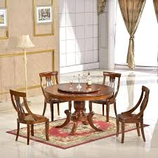 chinese dining table dinette furniture wood rotating dining table with dining table rotating dining round