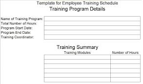 New Employee Training Program Template Employee Training Schedule Template Training Schedule
