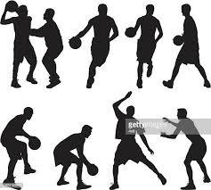 60点のバスケットボール選手のイラスト素材クリップアート素材マンガ