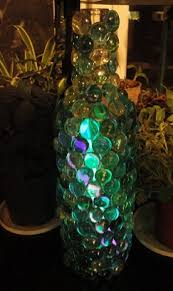 Wine Bottles Decorated With Glass Beads Craft Home and Garden Ideas Glowing Glass Bead Wine Bottle 1