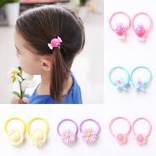 2PCS/Pair <b>Hair</b> Rubber Banda for <b>Kids Cute</b> Cartoon Elastic <b>Hair</b> ...