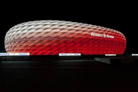 Bayern Munich Stadium Lights Allianz Arena Munich Bavaria Germany Color Kinetics