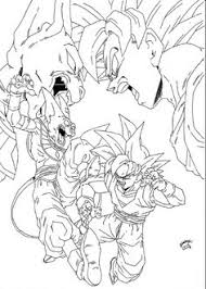 Small Picture Dragon ball anime Goku and Gohan coloring pages for kids