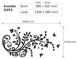 Small Picture FLOWERS BUTTERFLIES floral plant ornament wall art sticker decal