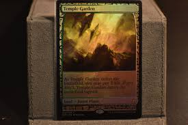 mtg magic the gathering foil expedition temple garden proxy