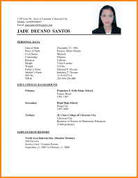 Sample Resume Application Resume Sample For Job Application Filipino Svoboda24 Com Curriculum 8