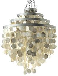 round chandelier with s champagne beach style in shell pendant light capiz drum li