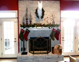 How To Whitewash Brick Christmas Mantel Our Fifth House