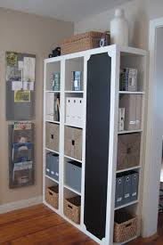 ikea office organization. 3 IKEA Shelves Into A Great Storage Area With Chalkboard (or Mirror Perhaps). Ikea Office Organization R
