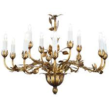 french gold leaf tole chandelier for