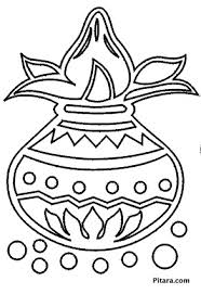 Small Picture Diwali Coloring Pages Pitara Kids Network