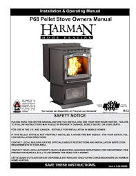 p68 pellet stove owners manual safety