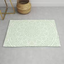 olive green simple simplistic mandala design ethnic tribal pattern rug