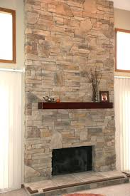 ... Dry Stack Thin Thin Stacked Stone Veneer Fireplace Cost Surround  Fireplce ...