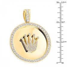 rolex crown vector custom made solid k gold crown diamond pendant rolex style medallion ct