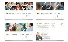 Postcard Collage Template College University Postcard Template Word Publisher