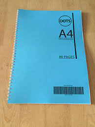 5mm Squared Graph A4 Notebook Spiral Bound 80 Pages 75gsm Paper