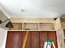 How To Make A Kitchen Cabinet Building Cabinets Up To The Ceiling From Thrifty Decor Chick