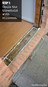 exterior door threshold install. how to replace and paint an exterior diy door - step 7 caulk around the threshold install o