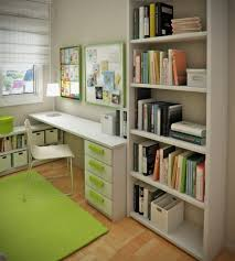 wonderful decorations cool kids desk. Minimalistic White Study Desk And Racks With Green Accent For Small Room Wonderful Decorations Cool Kids