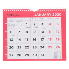 Whsmith 2020 Commercial Calendar Month To View