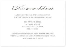 Wedding Invitations Hotel Accommodation Cards Menu Card