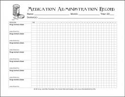 Chart Records 010 Medication Administration Records Template Chart