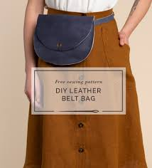 diy leather belt bag free sewing pattern from closet case patterns