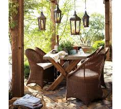 rustic outdoor dining table. Astounding Furniture For Home Decoration With Colored Wicker : Hot Picture Of Outdoor Dining Room Rustic Table